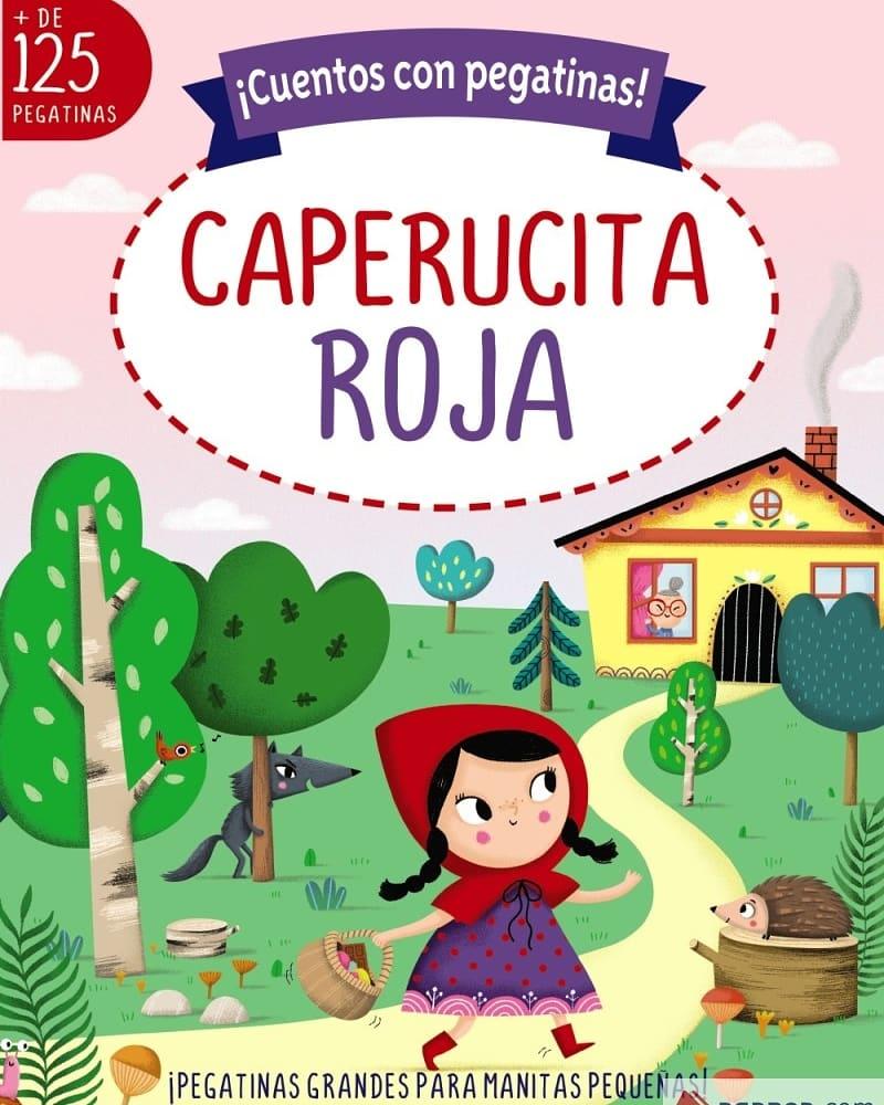 Libro infantil ¡Cuentos con pegatinas! Caperucita Roja