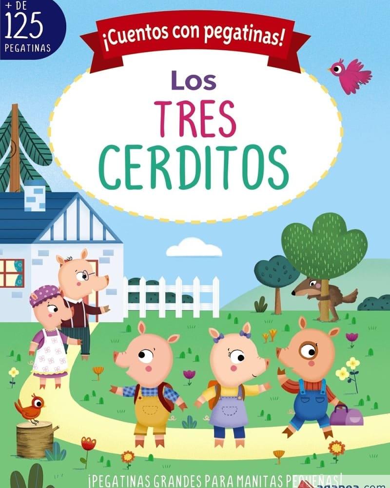 Libro infantil ¡Cuentos con pegatinas! Los tres cerditos
