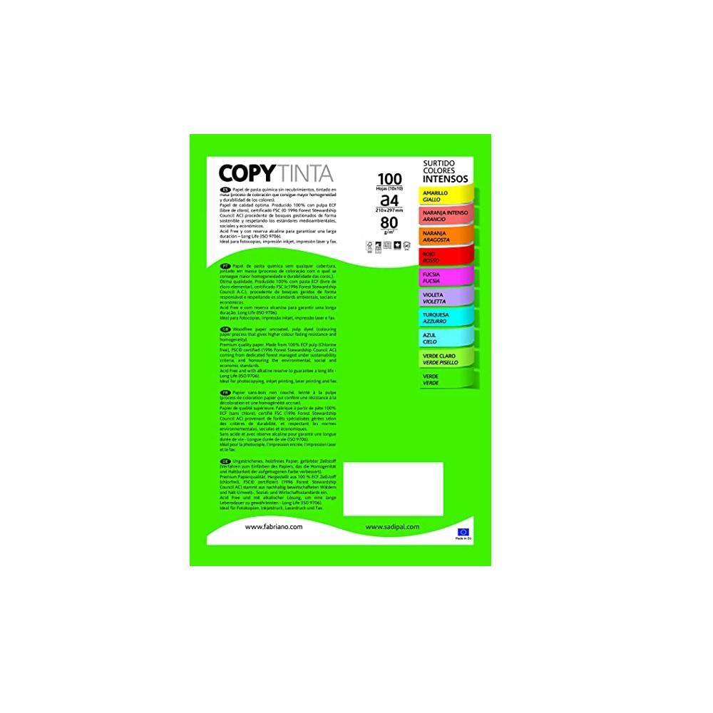 SADIPAL Paper 80 gr 100 fulles colors assortits