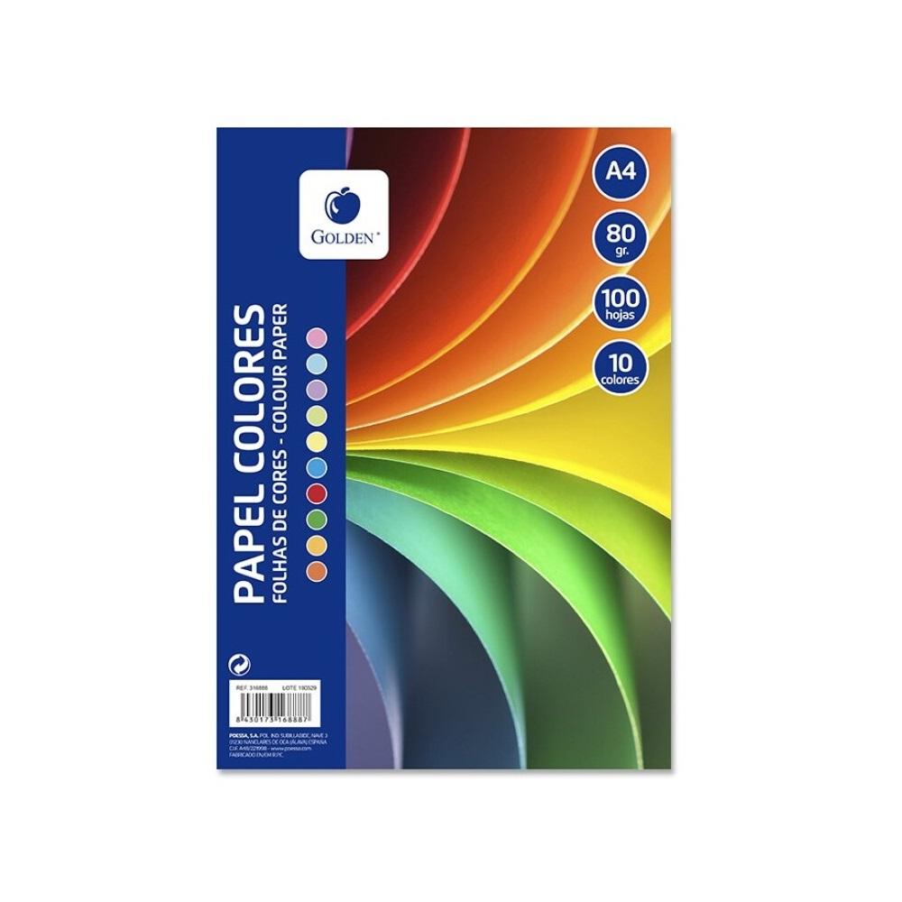 100 Fulles colors assortits