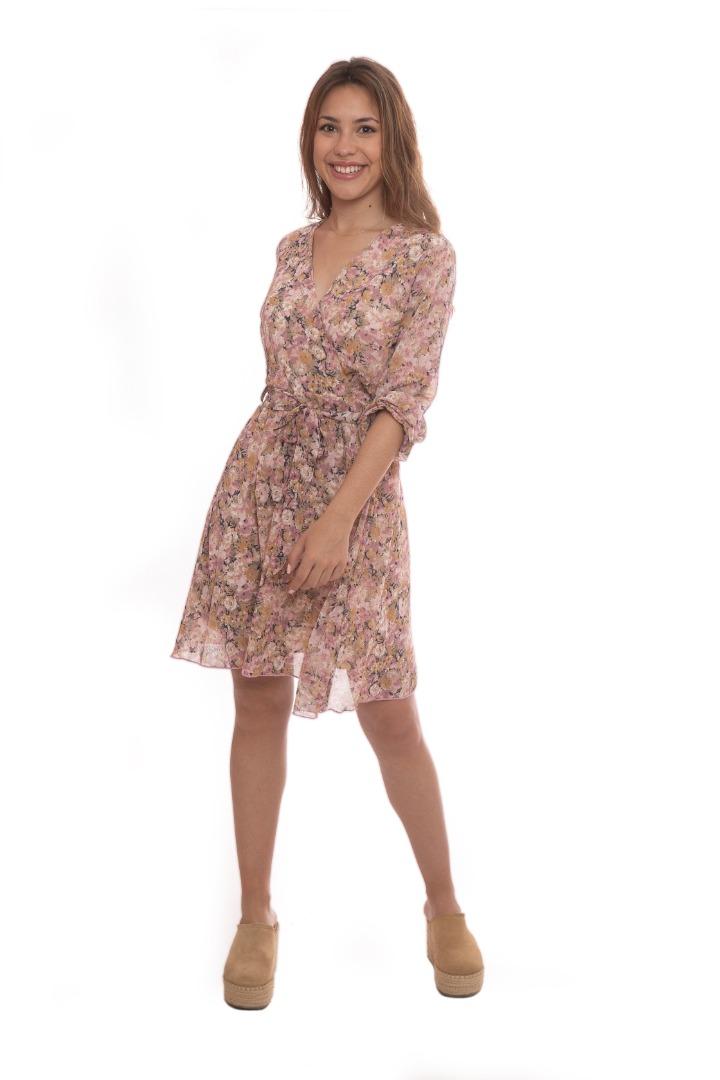 Vestido estampado rose