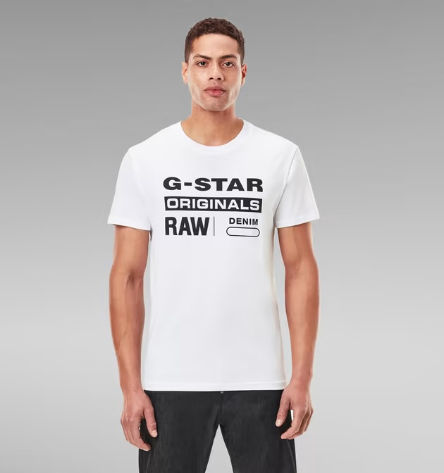 Camiseta-G-star-Blanca