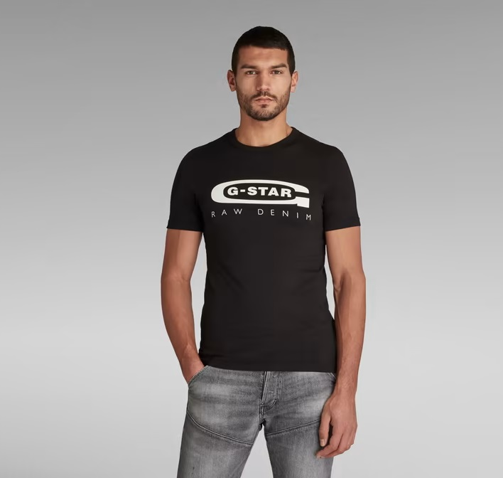 Camiseta-G-star-Negra