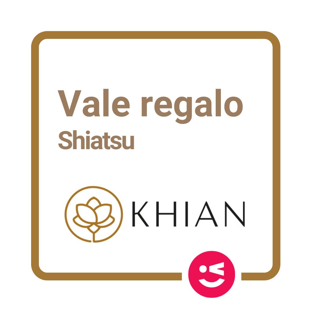 Vale Regalo Masaje Shiatsu
