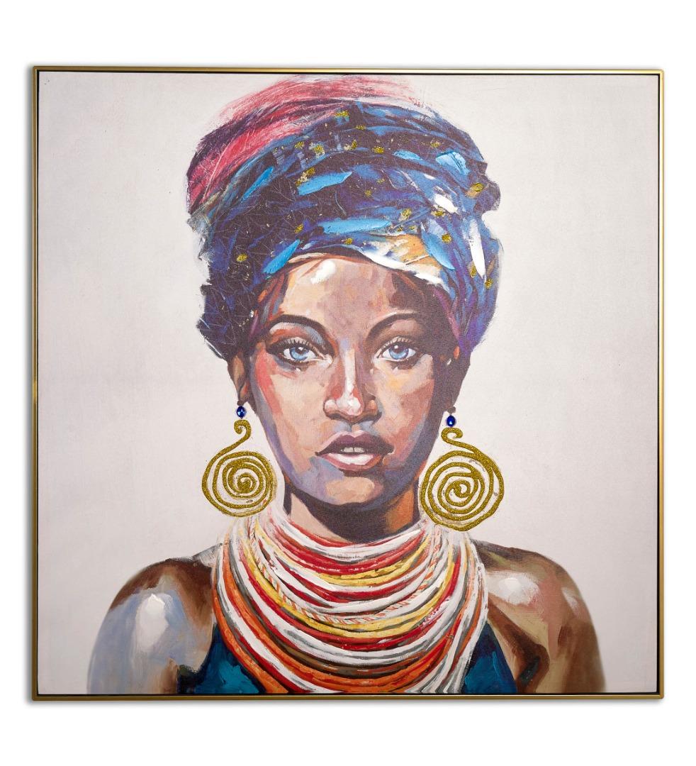 cuadro de mujer africana