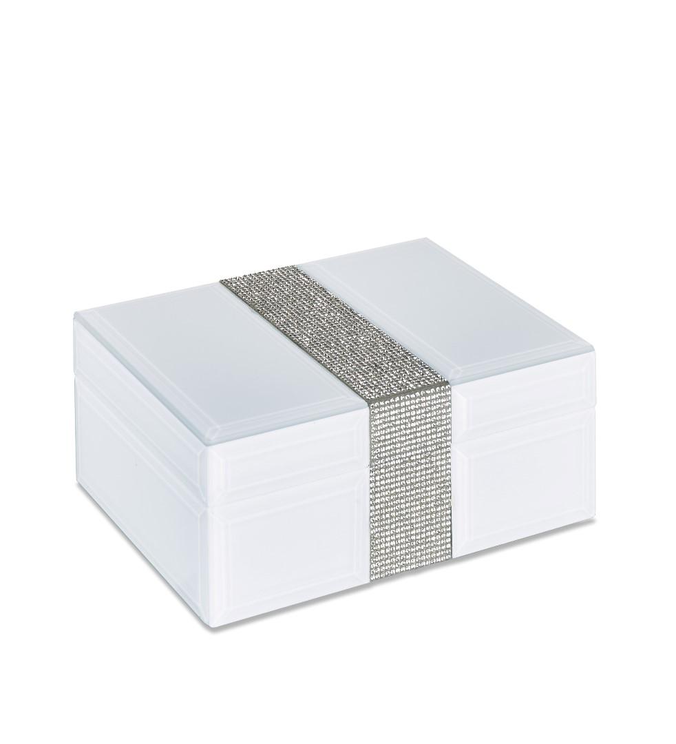 caja blanca de cristal
