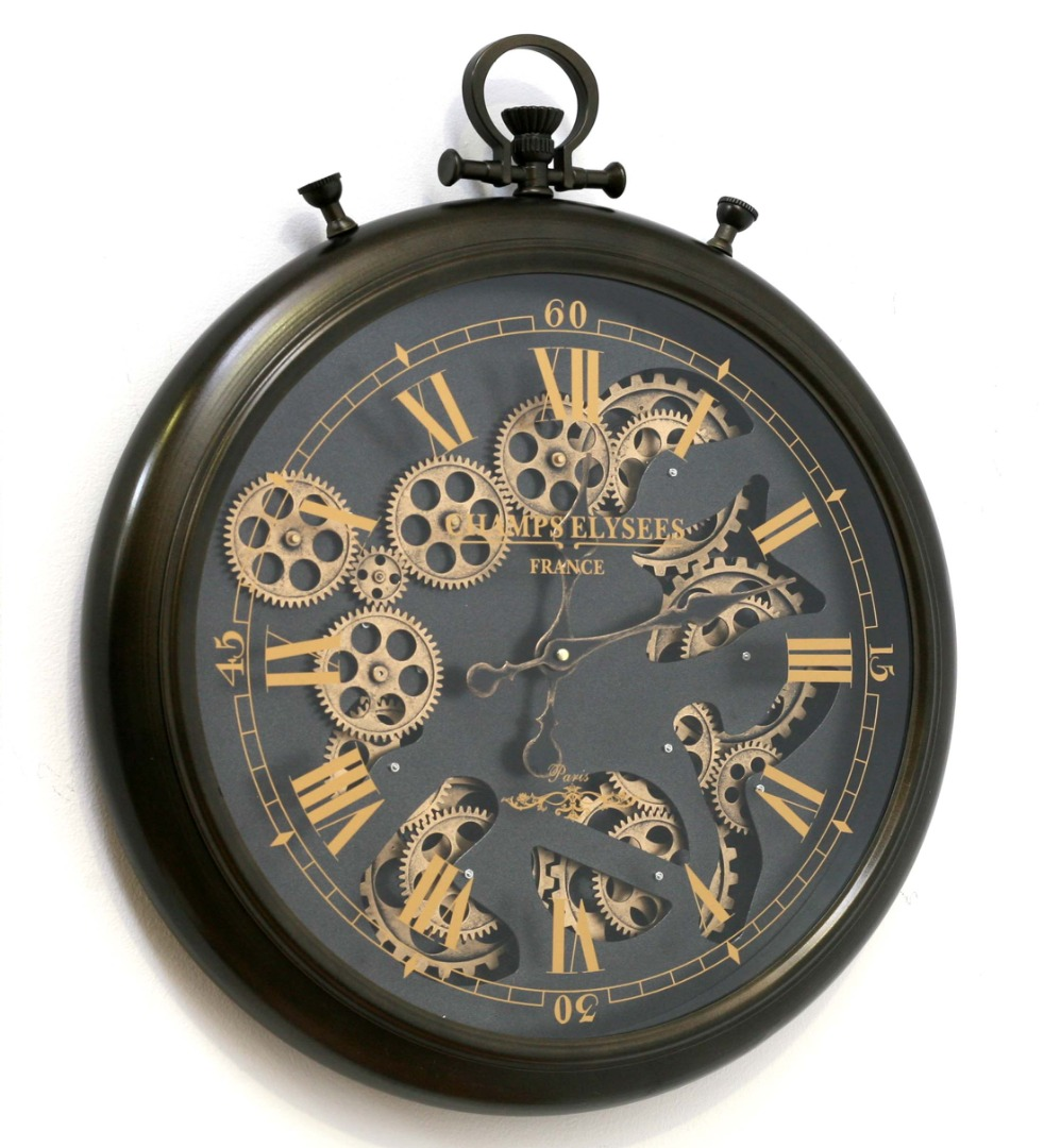 reloj de paret con arandela
