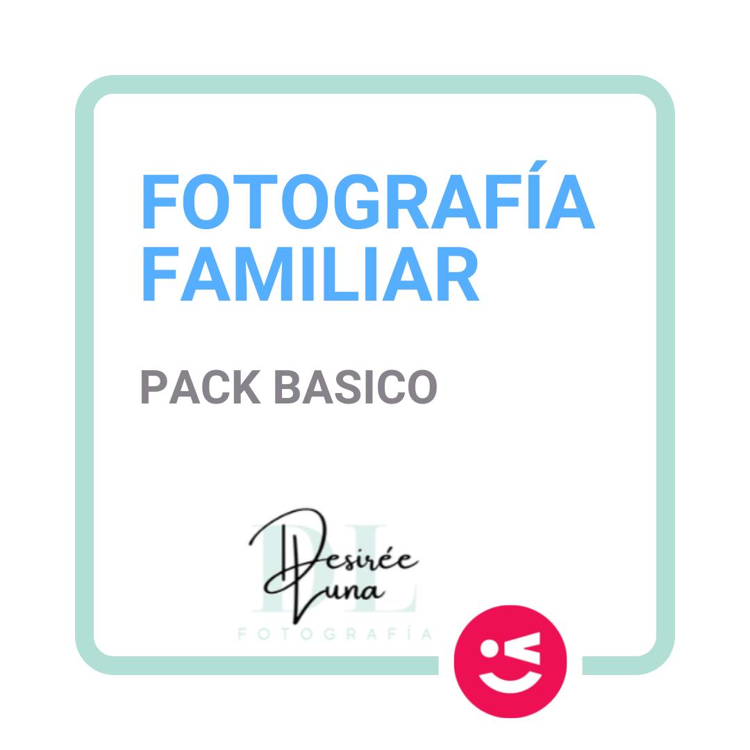 Fotografia familiar pack basico