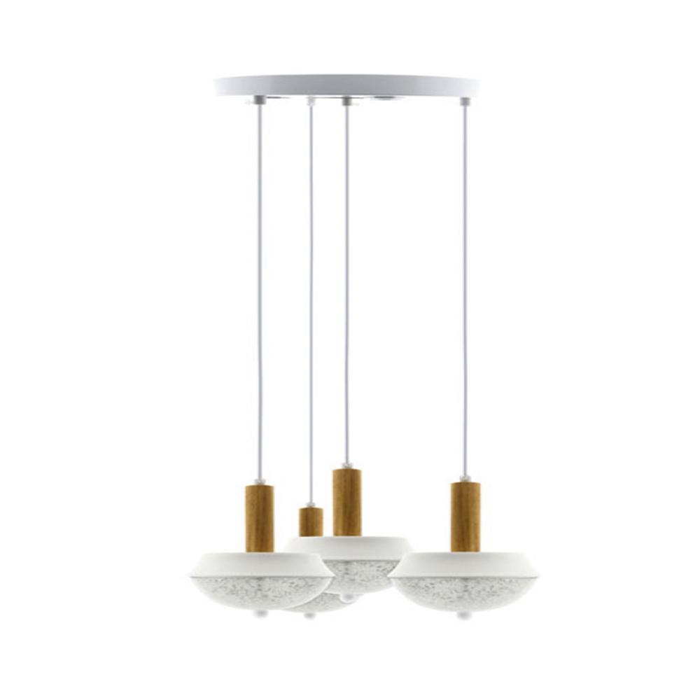 Llum de sostre penjant amb quatre llueixes LED de 120W