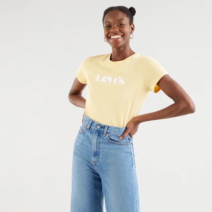 Camiseta Levi's amarilla chica
