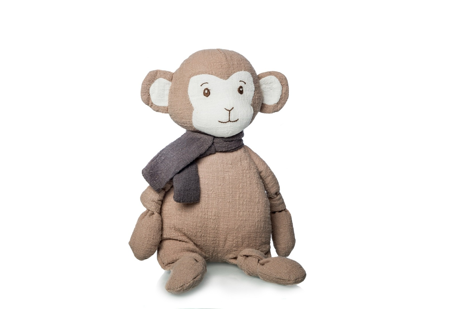 Peluche de mono de algodón para bebé