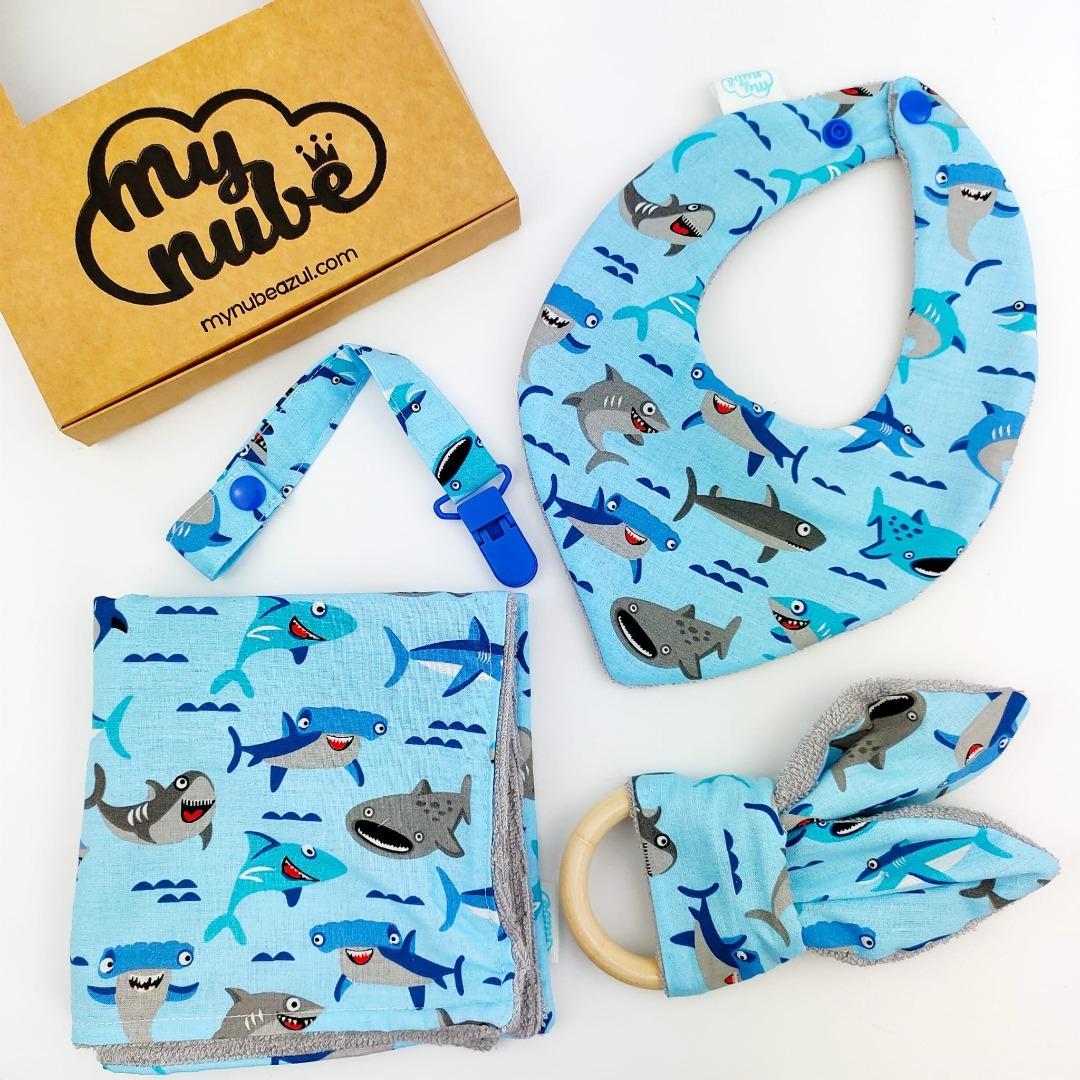Canastilla azul de tiburones