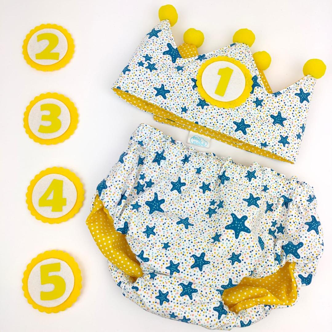 Conjunto de cumpleaños para bebé con estrellas