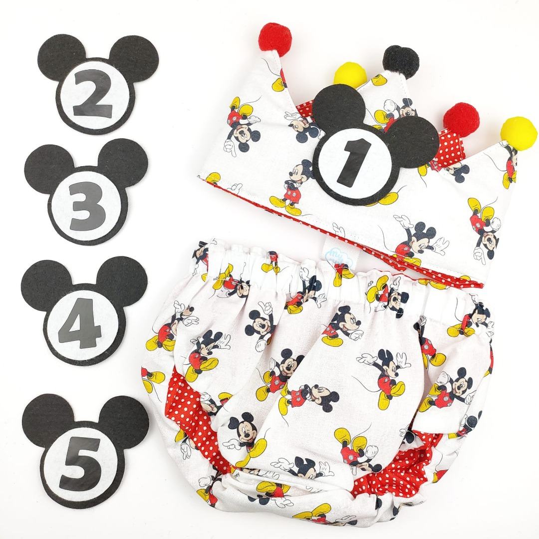Conjunto cumpleaños bebé Mickey Mouse