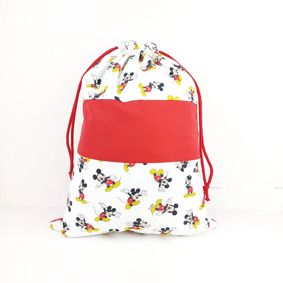Bolsa de recambio de muda para niños blanco y rojo, de minie mouse