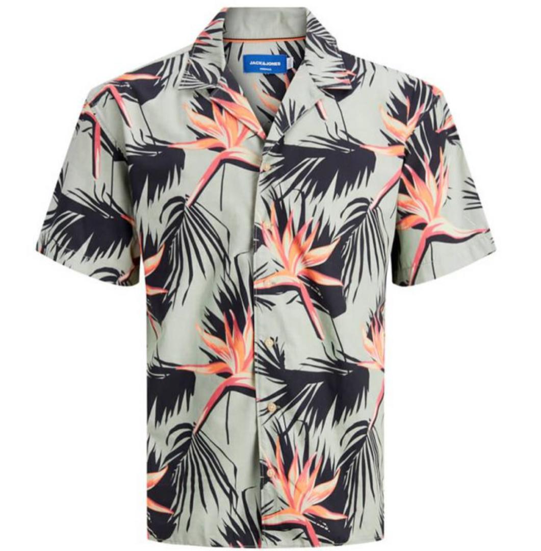 Camisa de manga corta de hombre con plantas
