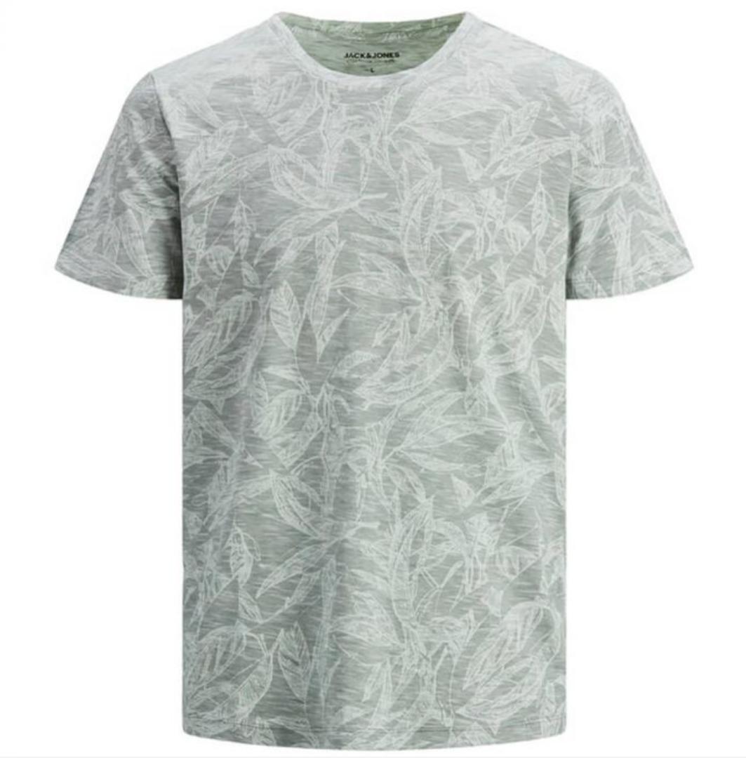 Camiseta con estampado tropical de hombre