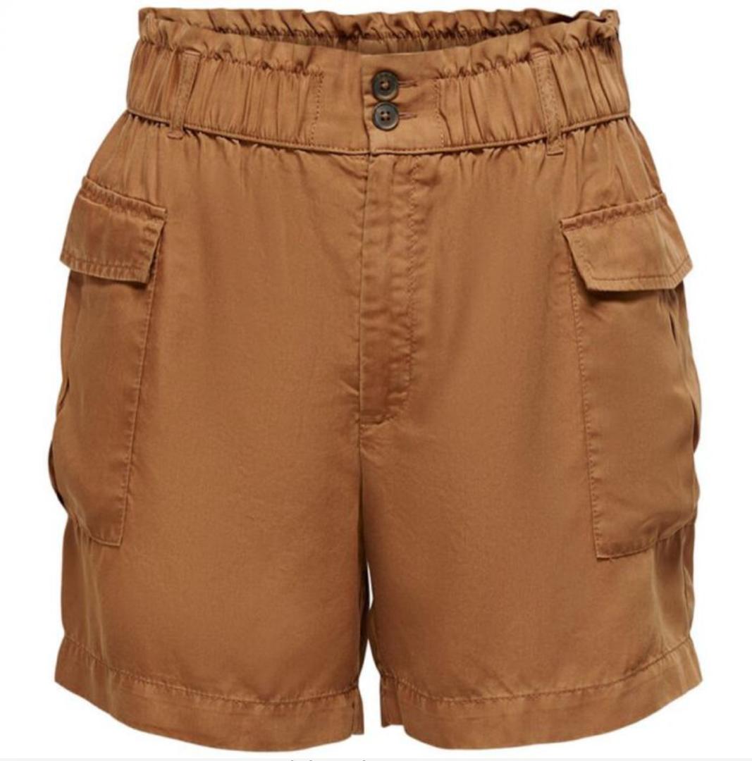 Pantalón de mujer en color marrón con bolsillos
