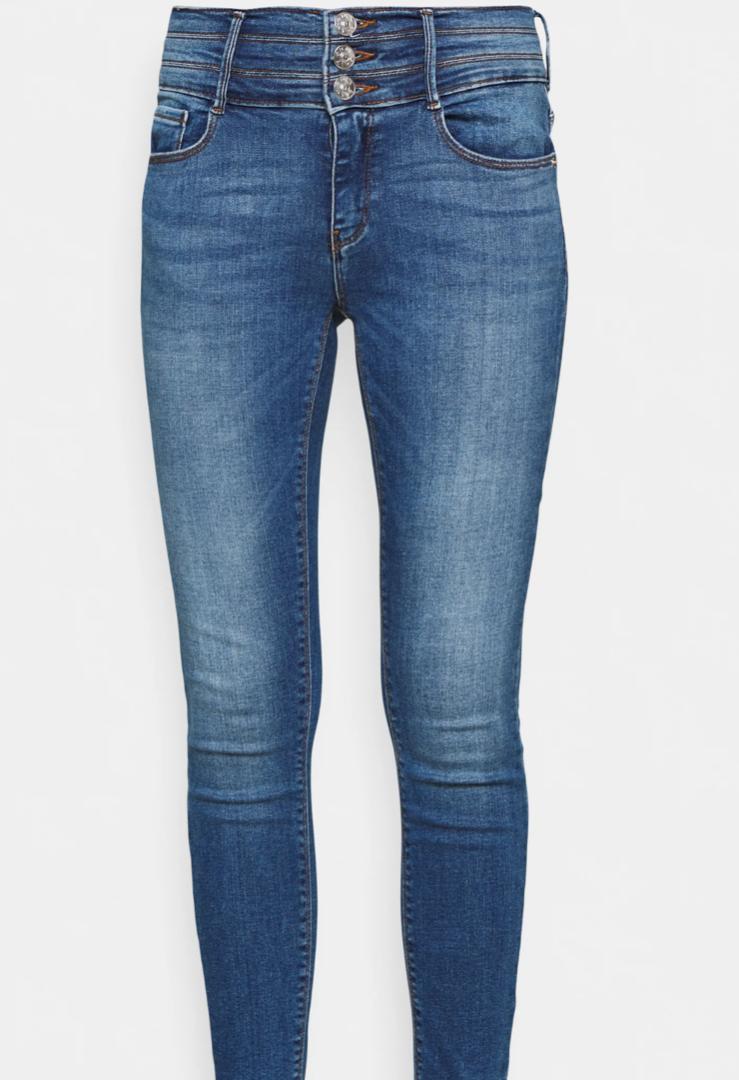 Tejanos de cintura alta en color azul