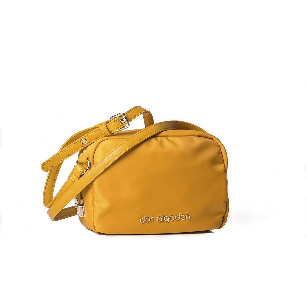 Bolso amarillo con cierre antirrobo