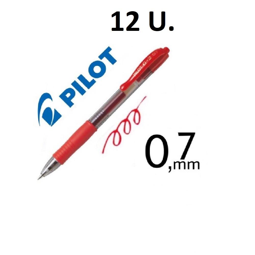12 BOLIGRAFS G-2 VERMELL