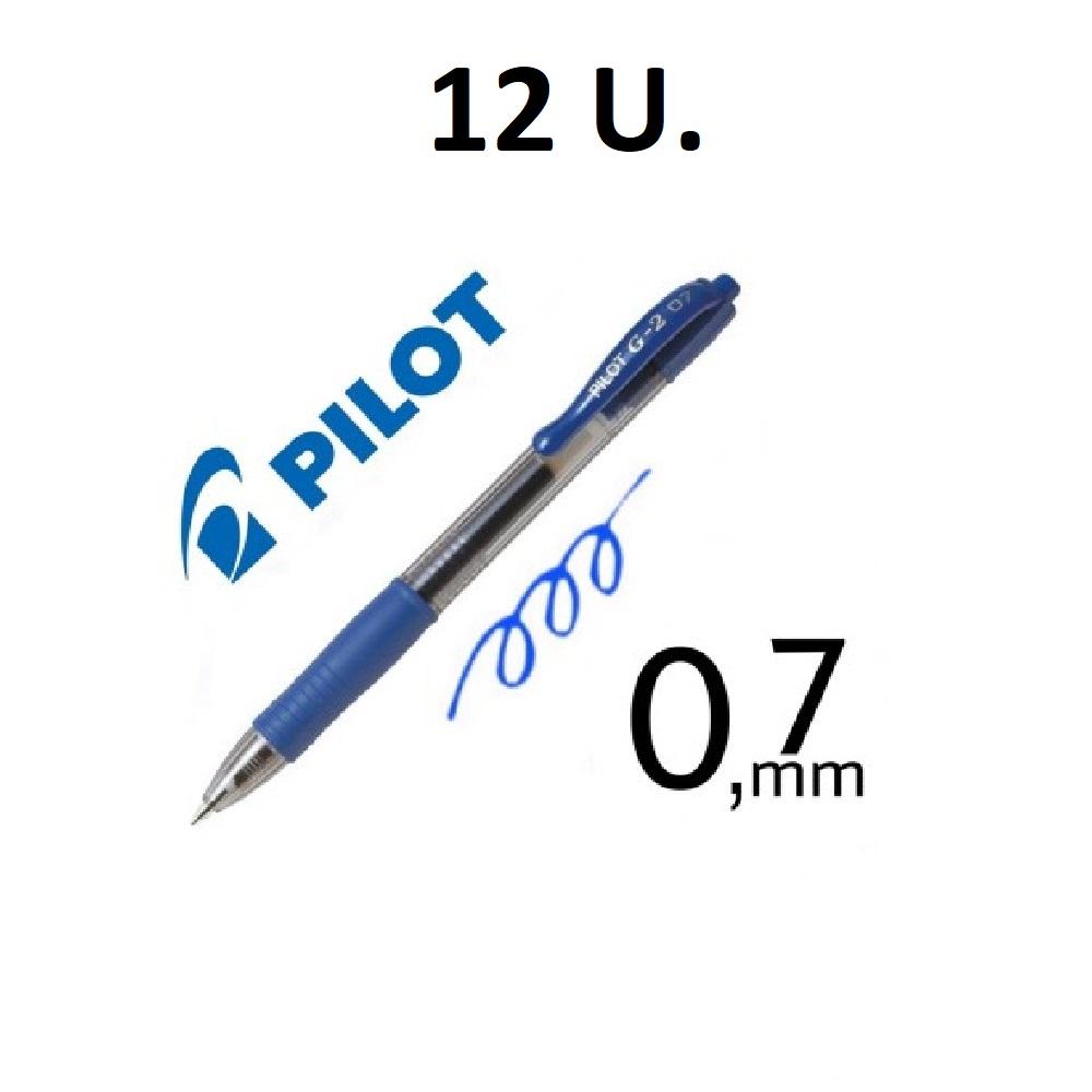 12 BOLIGRAFS G-2 BLAU