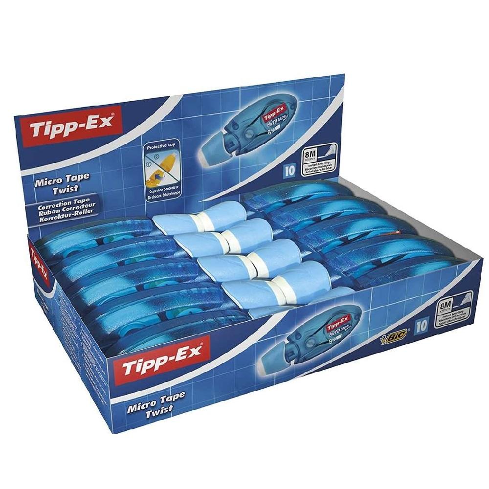 TIPP-EX 10 Cintes correctores 8mx5mm Tipp-Ex Micro Tape Twist Blau