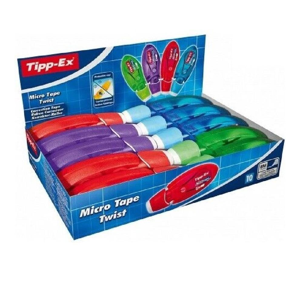TIPP-EX 10 Cintes correctores micro tape twist 5mm x 8m col. assortits Tipp-Ex