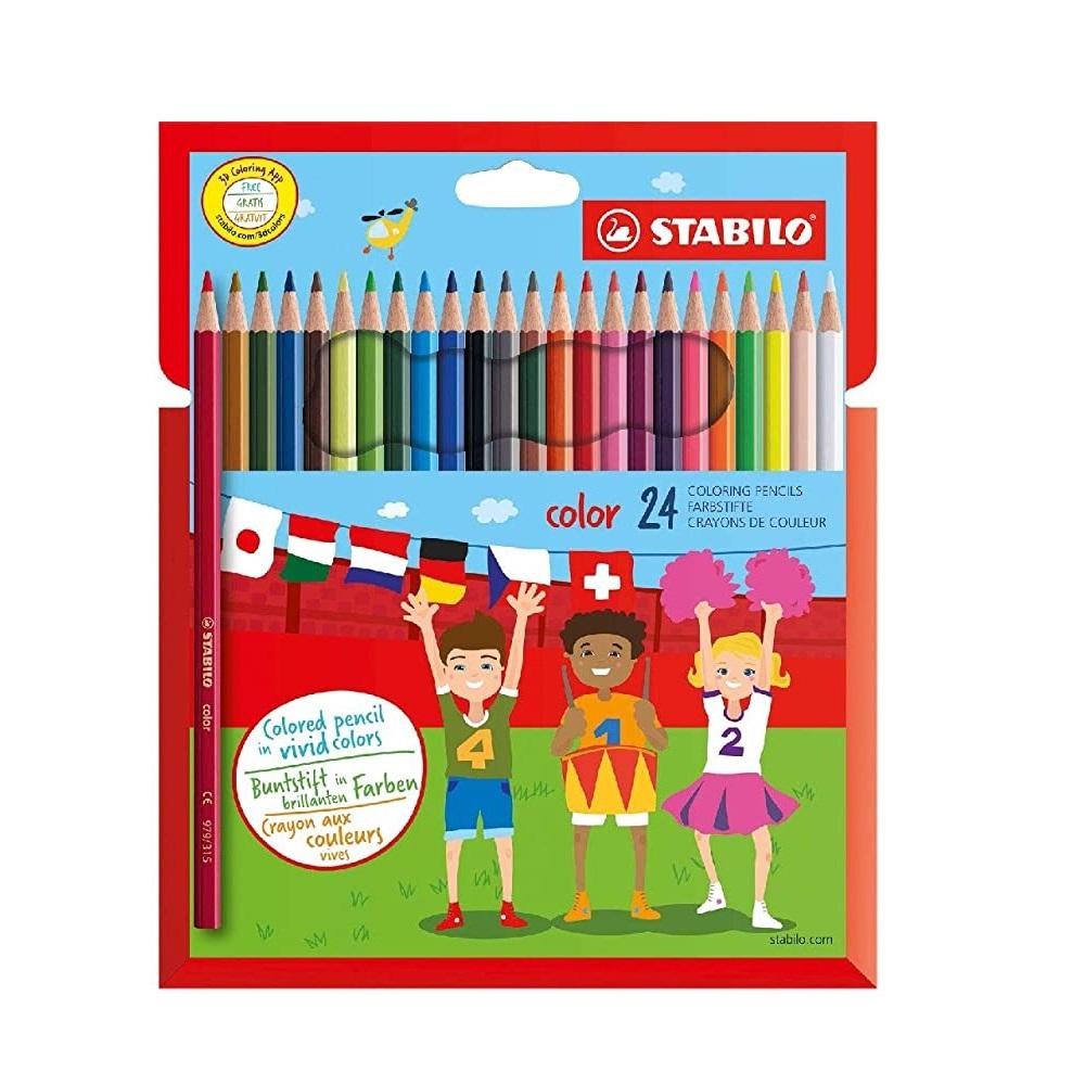 STABILO Caixa 24 llapis de colors