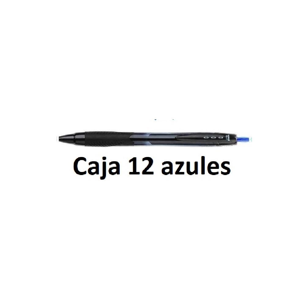 12 Boligrafs Jet Stream Sport 0.7 azul